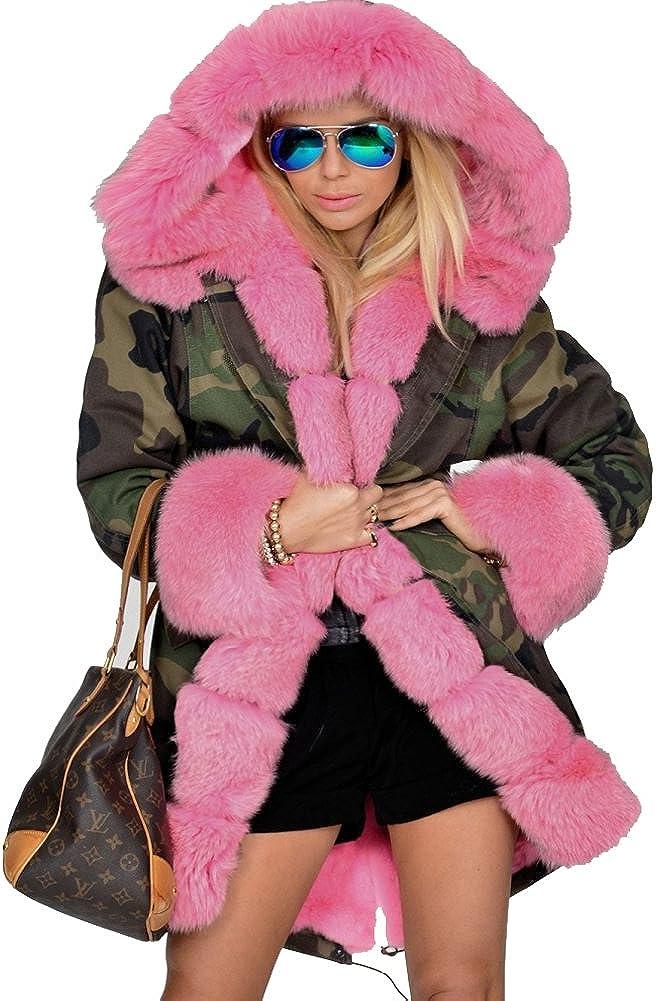 Roiii Women San Diego Mall Thicken Warm Award-winning store Winter Coat Ja Long Parka Overcoat Hood