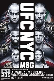 Pyramid America Official UFC 205 Eddie Alvarez vs Conor McGregor Sports Laminated Dry Erase Sign Poster 12x18