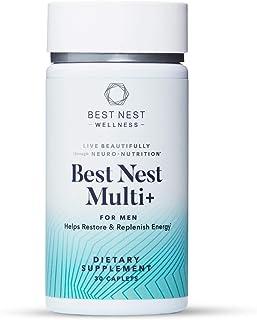 Best Nest Men's Multi+, Methylfolate, Methylcobalamin (B12), Multivitamins, Probiotics, Natural Whole Food Organic Blend, ...