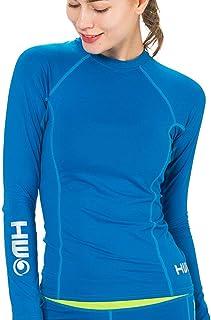 b942474e26 HW Lycra Femme Manches Longues Blue   Protection Anti - UV (UPF) 50+