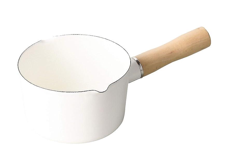 ホールド能力プレミアパール金属 ミルクパン ホワイト 12cm ホーロー ブランキッチン HB-4440