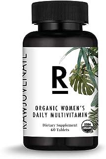 Rawjuvenate Organic Raw Multivitamin for Women- Highest Digestibility Absorption, 60Count