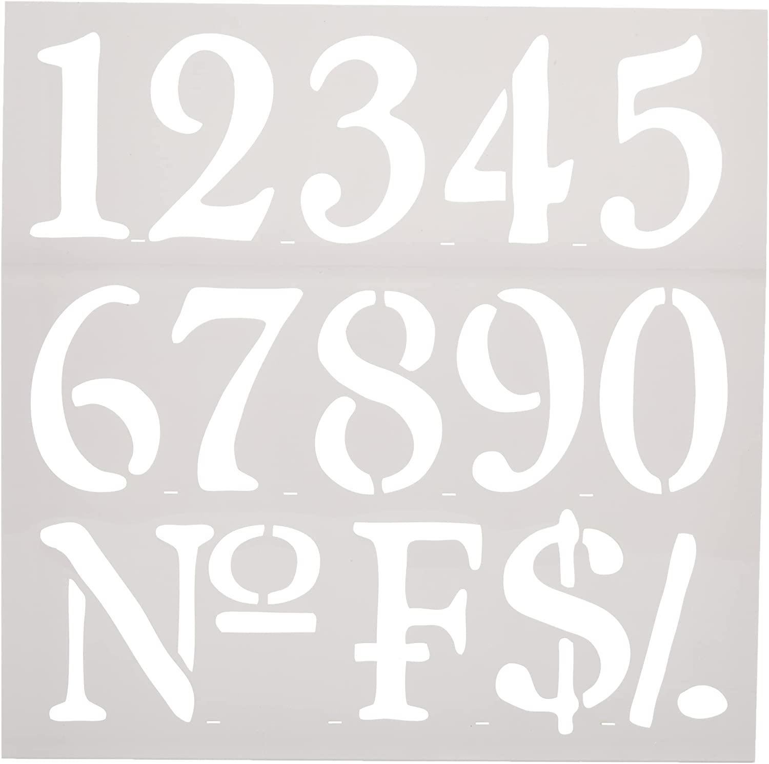 Rayher Stencil Jacksonville Mall Numbers 30.5x30.5cm tab-Bag x In a popularity pc 3.25 1 3.1