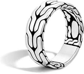 Men's Classic Chain Silver Band Ring 8mm