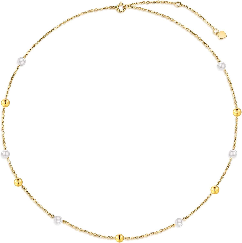 SISGEM Solid 14K Gold Regular store Pearl Bracelet for Women Freshwater Max 53% OFF Girls
