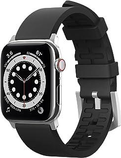 Elago Premium Fluoro Rubber Strap for Apple Watch 44mm - Black