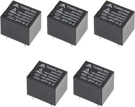 REFURBISHHOUSE 5pcs 5V DC Relais de puissance Mini PCB de type