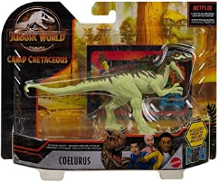 Jurassic World Camp Cretaceous Attack Pack Coelurus Dinosaur Figure with 5 Articulation Points, Realistic Sculpting & Text...