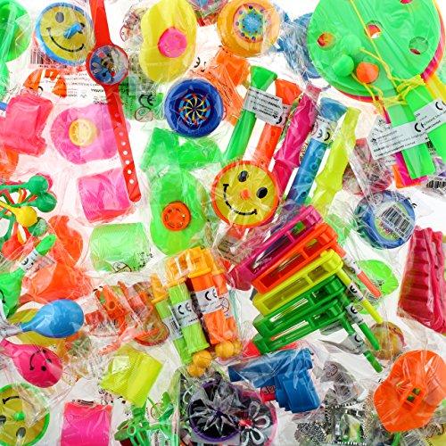 Bolsa 100 Juguetes surtidos - Perfecta para relleno de piñatas, regalos de cumpleaños, relleno de cajitas sorpresa