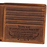 Gifts for Son from Mom to My Son Personalized engraved Wallet-Gradation Gifts Ideas-Birthday, Christmas Gifts