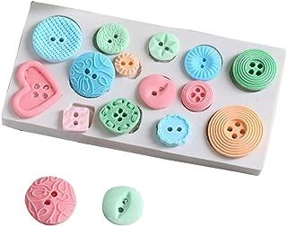 Button Silicone Fondant Mould Sugar Craft DIY Gumpaste Cake Decorating Tools for Cupcake Topper Silicone Mold
