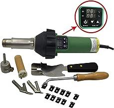 1600W Digitally Controlled Heating Gun Plastic Welding Gun PVC TPO Roofing Welding Hot Air Gun Plastic Flooring Welding Gun (With Flooring Kit)