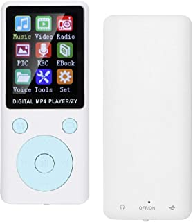 $20 » Qiilu Music Player Compact and Lightweight MP4 Music Player Portable Non-Slip for Home Travel School Study(White)