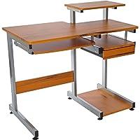 Techni Mobili Complete Computer Workstation Desk (Woodgrain)