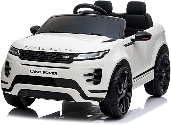 Macchina per bambini elettrica 12 volt  - range rover evoque - mondial toys RRE99_White