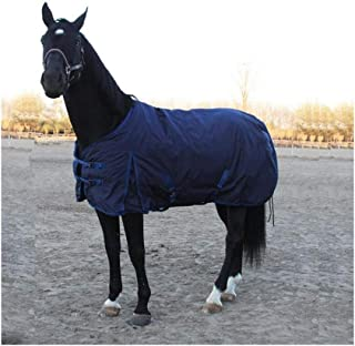 DWJ Winter Waterproof Horse Blanket, Thick Warm Turnout Rugs for Horses 1200D Ripstop Breathable Trojan Horse Exercise Sheets Horsewear Supplies