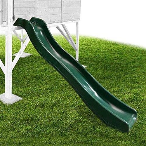 Mad Dash Childrens Heavy Duty Forest Green Wavy Plastic Slide 178cm Long for 90cm Platform Height