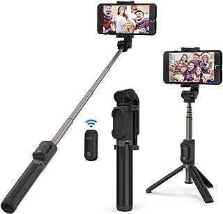 VAVA Palo Selfie Trípode con Control Remoto Mini Selfie Stick con Mando Bluetooth 2 en 1 Bolsillo Inalámbrico Doble Rotación 360 Grados para iPhone 11/Pro/Max/X/8/7/6 Huawei Honor Samsung y más