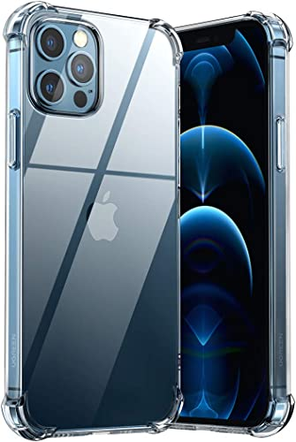 new arrival UGREEN Compatible for high quality iPhone 12 Pro Case 6.1 Inch Transparent Cover TPU Protective with 4 Corners Bumper Shockproof Protection and Soft Scratch-Resistant 2021 Cover outlet online sale