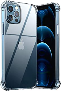 UGREEN Clear Case For iPhone 12/12 Pro Transparent Cover TPU Protective with 4 Corners Bumper Shockproof Protection and So...