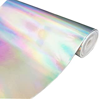 ZAIONE Hologram Mirrored Faux PU Leather Fabric 8