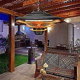 keduoduo Riscaldatore a Sospensione all'aperto del soffitto del soffitto del soffitto terrazza riscaldatore Elettrico Impermeabile riscaldatore a infrarossi 1500w
