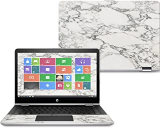 "Mightyskins Skin Compatible with Hp Pavilion X360 14"" (2017) - White Marble 