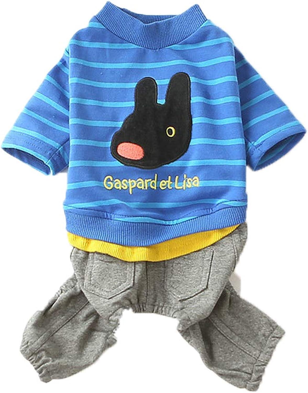 Dog Clothes pet Costume Striped FourLegged Suit Casual pet FourLegged Jumpsuit