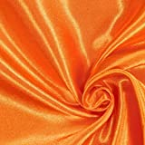 Fabulous Fabrics Satin orange, Uni, 148 cm breit – Satin
