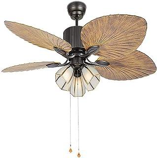 Luz de ventilador de techo de 52 pulgadas con control remoto ventilador industrial e interruptor de cordón luz de techo retro luz de techo luz de techo antigua luz de techo moderna