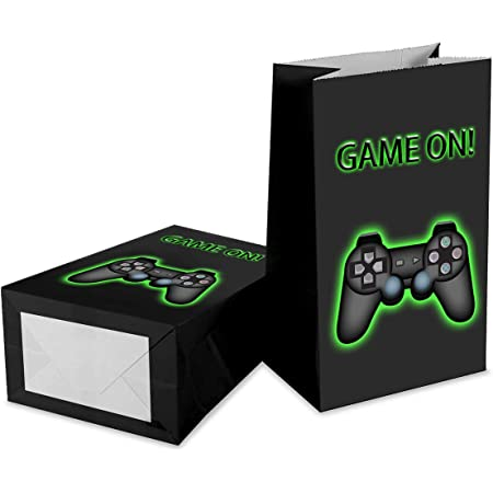 Gatherfun Video Game Party Favor Bag Goodie bags Gift Gags for Gamer Party Gaming Theme Birthday Party for Kids and Adults