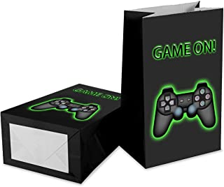 Video Game Favor Bags,Outego Video Game Goodie Bags Video Game Party Favor Bags Video Game Party Favors for Kids Birthday Party