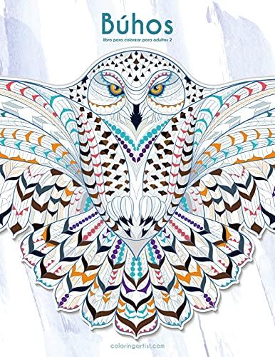 Búhos libro para colorear para adultos 2