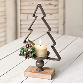 CTW Home Collection Tabletop Christmas Tree Metal Candle Holder, The Perfect Decoration Addition to Any Room for The Most Special Time of The Year!