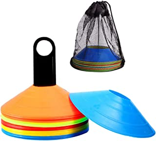 IMIKEYA 1 Set Soccer Disc Cone Flexible with Bag for Agility Training Soccer Football Kids Sports Field Marker Random Color