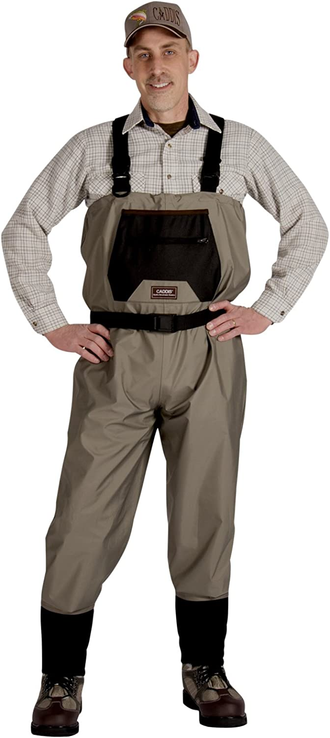 Caddis Men's Taupe Affordable overseas Breathable Max 86% OFF Foot Stocking Wader