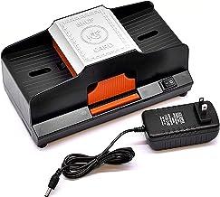 カードシャッフラー2デッキトーナメント用自動、高齢者低ノイズ電気カードシャッフラーカードトランプホームカードゲーム用アクセサリーラミー