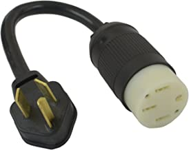 Conntek EV1030T 30-Amp NEMA 10-30P Dryer Plug to 50-Amp Electric Vehicle Adapter Compatible with Tesla Vehicles