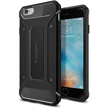 Spigen Coque iPhone 6s, Coque iPhone 6 / 6s [Rugged Capsule] Protection Extreme [Noir] Qualité Premium, Anti-Choc Housse Etui Coque pour iPhone 6s (2015) - Noir (SGP11597)