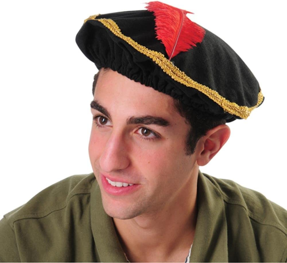 Spring new work U.S. Toy Renaissance Hat Direct store SS-UST-H528 Black Red Gold