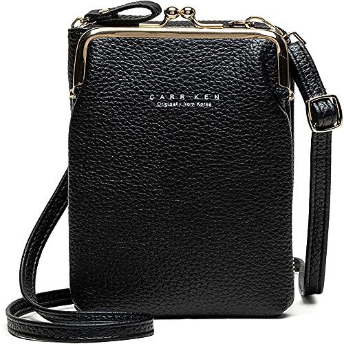 Posh Bag - Elegante bolsa de teléfono de gran capacidad, bolsos cruzados para mujer, bolsos de hombro para teléfono celular, color negro