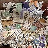 PMSMT Lindo 15 unids Retro pegajoso para la decoración del teléfono papelería Retro Pegatinas de Plantas Accesorios de Diario Pegatinas de Pegatinas de álbum de Recortes