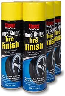 Stoner Car Care 91094-6PK 12-Ounce More Shine Tire Finish Non-Greasy Spray Enhances and Restores Your Tires Natural Color,...