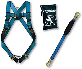 Tractel KIT-B01K Basic Fall Protection Kit with All Included In One Carrying Bag, One Size, Blue/Black