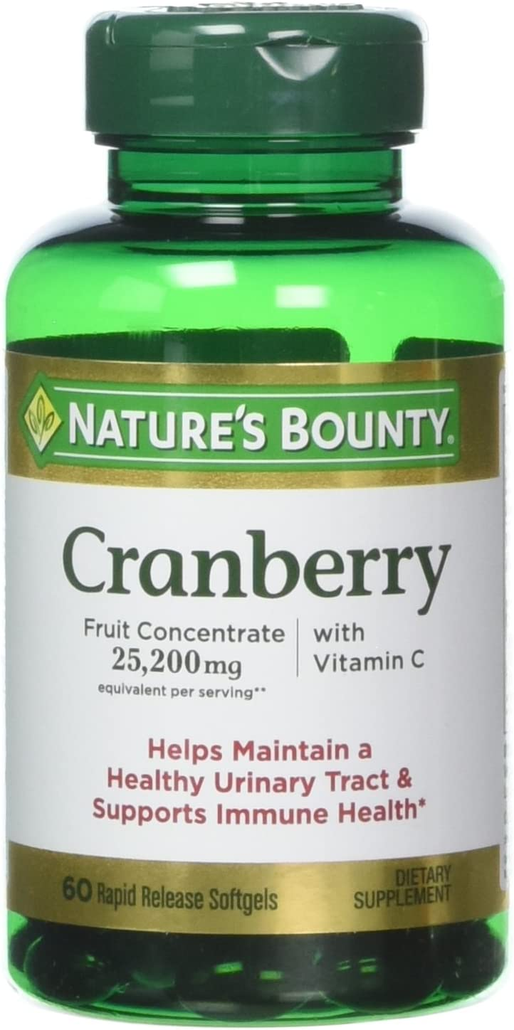 Nature's Bounty Cranberry with Vitamin Manufacturer regenerated product C 200 safety 60 25 mg Softgels