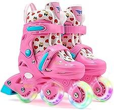 ONEKE Roller Skates Kids Boys Girls Adjustable Rollerblades Multi-Function Convertible Skating Shoes Beginners Advanced Safe Durable Rollerblades