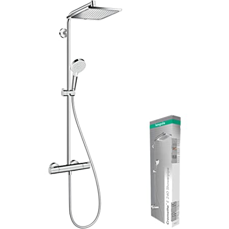 Hansgrohe 27271000 Crometta E 240 Sistema de ducha, 2 tipos de chorro, Cromo, 240 mm