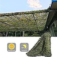 GDMING オーニング シェード遮光ネッ シェードクロス 庭園 植物カバー 迷彩 UV保護 防塵 通気性 アウトドア レクリエーション シェードセイル プライバシー 画面 、44サイズ (Color : Green, Size : 3x6m)