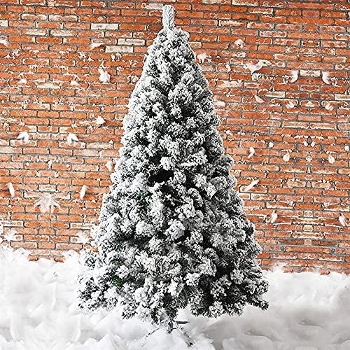 Nieve acudió el pino artificial de la Navidad,el árbol de Navidad con bisagras blanco con el soporte de metal for el mercado al aire libre interior Oficina for el hogar Decoración de vacaciones