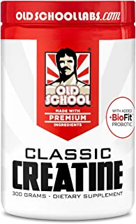 Old School Labs Classic Creatine - Purity-Tested Creatine Monohydrate for Muscle Size, Strength and Stamina - with BioFit ...